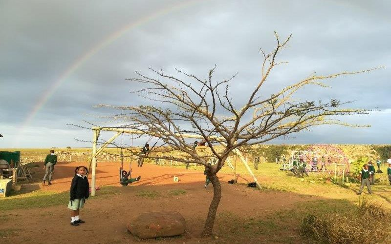An oasis of hope: <br> Wild Coast school helps <br> break cycle of violence and poverty