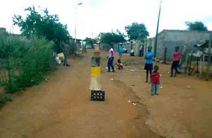Lockdown in the township of Klipfontein View