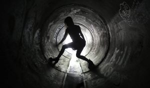 In the sewers