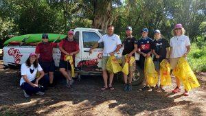 River clean-up volunteers.