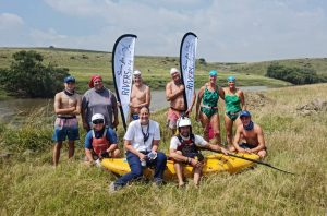 End of day one of Vaal River swim