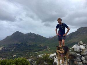 Wildcard's Jason Smythe on a trail run with Mika,